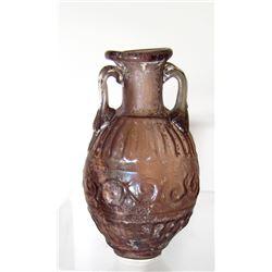 Roman manganese-purple mold-blown glass amphoriskos