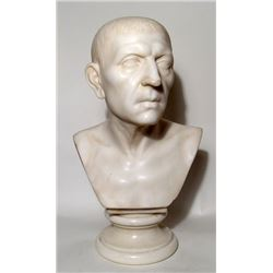 A Neo-Classical marble bust of Roman patrician
