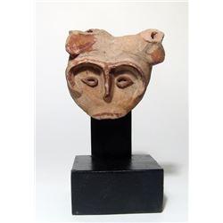 A terracotta head from a bull, Roman Egypt