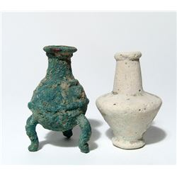 A pair of ancient cosmetic containers