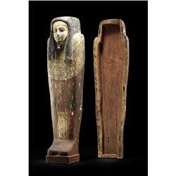 An Egyptian polychrome wood sarcophagus, Akhmin
