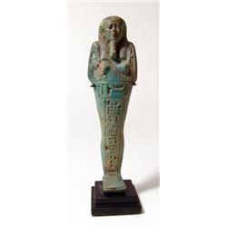 A nice Egyptian blue-green faience ushabti