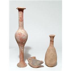 A lot of three ceramic vessels