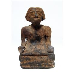 Egyptian wood figure of a scribe, Middle Kingdom