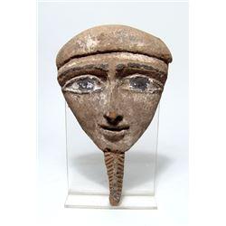 An Egyptian wood  'Mummy' mask, Late Period