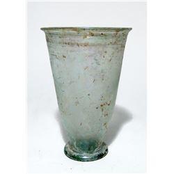 A choice Roman pale blue-green glass beaker