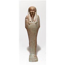 A large Egyptian green faience ushabti