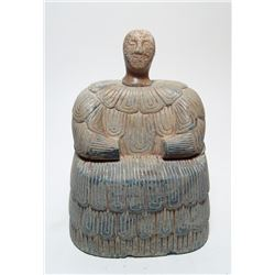 A Bactrian calcite votive head from a composite figure