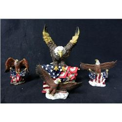 FOUR PATRIOTIC EAGLE STATUES