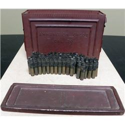 US WWII 30 CAL AMMUNITION CHEST W/FULL BANDOLIER