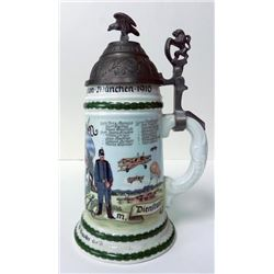 IMPERIAL GERMAN COVERED STEIN-FOR A WWI BAVARIAN FLYER