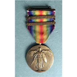 WWI US VICTORY MEDAL W/ST. MIHIEL & DEFENSE SECTOR BARS