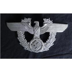 NAZI POLICE SHAKO-TSCHAKO HAT EAGLE-ORIGINAL