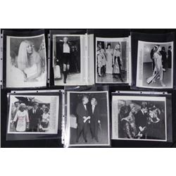 7) Original Kennedy Press Photos Joan and Sen Edward
