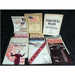 14 WWI & WWII ERA SHEET MUSIC-SOME MILITARY