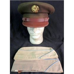 WWII US ARMY VISOR HAT-PRV PURCHASE-MOHAIR-INSIGNIA-