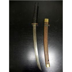 "OLD JAPANESE SAMURAI SWORD-W/SCABBARD-18 1/2"" BLADE"