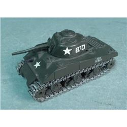 US WWII SHERMAN TANK BY SOLIDO-DIECAST METAL- FRANCE
