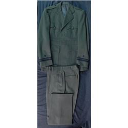 WWII US NAVY GREEN UNIFORM & PANTS-TAILOR MADE-