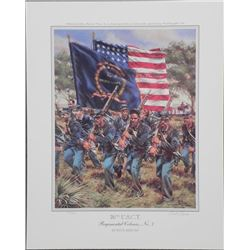 26th U.S.C.T. Regimental Colours No 7 Rick Reeves Print