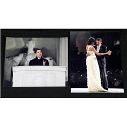 2 President Barack Obama Photos w/Michelle, Lincoln Mem
