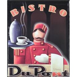 Michael L. Kungl Art Deco Print on Canvas Bistro DuPont