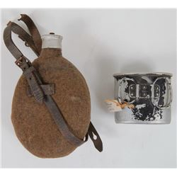 NAZI WEHRMACHT CANTEEN WITH STRAPS--MKD  HRE41