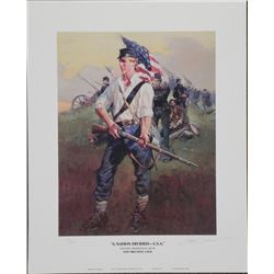 A Nation Divided USA Don Prechtel Civil War Art Print