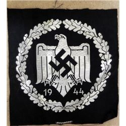 ORIGINAL NAZI 1944 SPORTS EAGLE SWASTIKA UNIFORM PATCH