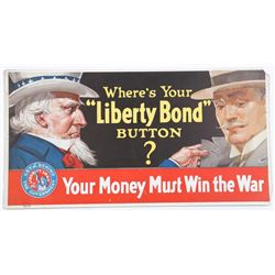 Where's Your Liberty Bond Button Uncle Sam Print Ad