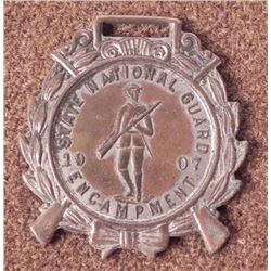 1907 STATE NATIONAL GUARD ENCAMPMENT-US MEDAL/FOB