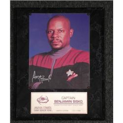 Star Trek Avery Brooks Benjamin Sisko Signed Photo Plaq