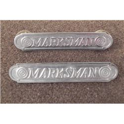 2 RIFLE MARKSMAN BADGES-PINBACK & CRIMP BACK