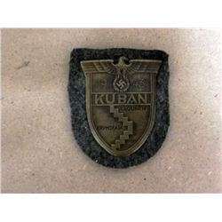 NAZI KUBAN SHIELD-ORIGINAL-MINT CONDITION