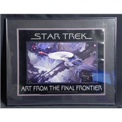 Star Trek George Takei Signed Print Final Frontier-Frmd