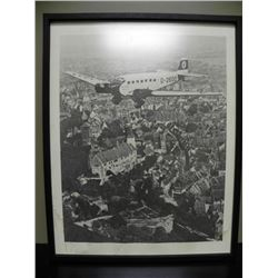 FRAMED PERIOD PHOTO OF HITLER'S PLANE-D2600 C.1934