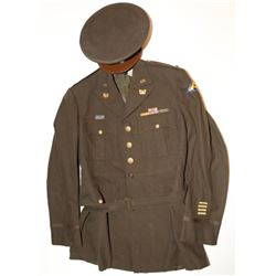 WWII 7th ARMY WARRANT OFFICER JG TUNIC-AND VISOR