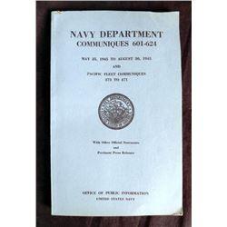 NAVY DEPT COMMUNIQUES-WWII-120+ PAGES SC BOOKLET-1946