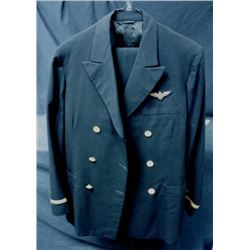 WWII NAVY PILOT UNIFORM + PANTS - OFFICER PILOT'S EAGLE