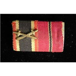 NAZI RIBBON BAR-ORIG-RUSSIAN FRONT & WAR MERIT W/SWORDS