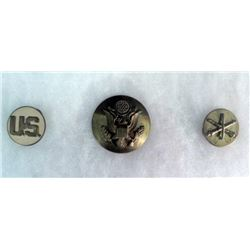 U.S. ARMY COLLAR AND VISOR BRASS INSIGNIA