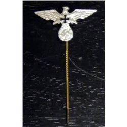 NAZI STICKPIN-ORIGINAL--EAGLE/SWASTIKA/IRON CROSS