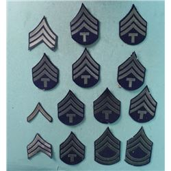 COLLECTION OF 14 U.S. ARMY CHEVRON PATCHES