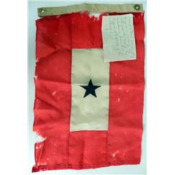 WWI Service Flag ID'd with Note