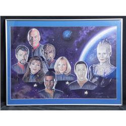 Star Trek Next Gen R.J. Crabtree Signed Print-Ltd Frmd