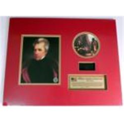 President Andrew Jackson's Hair Mounted w/ Prints Plack