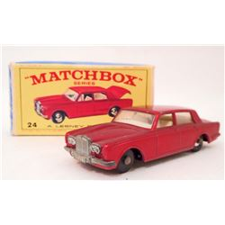 VINTAGE MATCHBOX RED ROLLS ROYCE W/ ORIGINAL BOX
