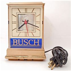 VINTAGE BUSH BEER ADVERTISING CLOCK