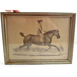 "ORIGINAL 1852 STONE LITHOGRAPH THE HORSE ""INVINCIBLE"""
