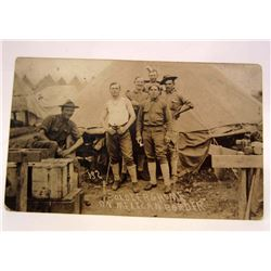C. 1916 RPPC REAL PHOTO POSTCARD OF A SOLDIER'S HOME ON THE MEXICAN BORDER